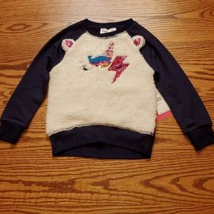 NEW Girls Sequin Unicorn Freestyle Sweatshirt